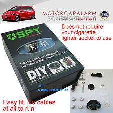SPY TPMS Tire Tyre Pressure Monitor System 4x Sensors + Wireless LCD Monitor