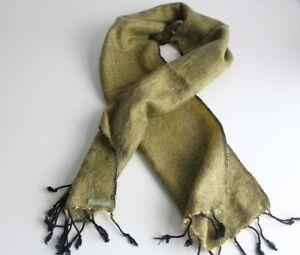 Three Ply Lime Yellow Woolen Muffler, Neck Scarf