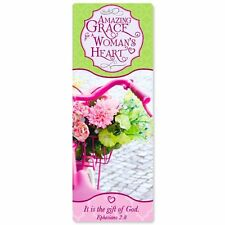 AMAZING GRACE FOR A WOMAN'S HEART™ LAMINATED GIFT BOOK MARK FAST USA SHIPPING
