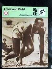 JESSE OWENS 1977 Sportscaster Card #01-04 TRACK AND FIELD