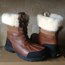 UGG Butte Worchester Waterproof Leather Fur Winter Snow Boots Size US 14 Mens