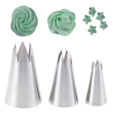 3Pcs Premium Stainless Steel Piping Nozzles Russian Pastry Tips Decorating ToSE