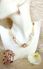 Murano Glass Necklace - Made in ITALY Champagne Pink - Mask Shop Australia