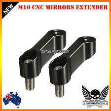 Black CNC 10mm Mirror Extension Riser Adapter MT-09 MT-07 Fazer FZ-09 V-max 1700