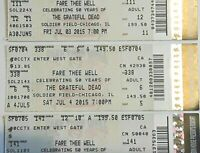 1-Grateful Dead Fare Thee Well Tour July 3,4,or 5th 2015 Soldier Field 50Yr Ann