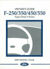 2000 Ford F-250 To F-550 Truck Owners Manual User Guide Reference Operator Book