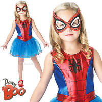 Spider-Girl Age 5-6 Girls Fancy Dress Superhero Childs Halloween Kids Costume