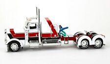 "First Gear DCP 1:64 *WHITE & RED* Peterbilt 389 w/63"" Sleeper Semi Truck NEW"