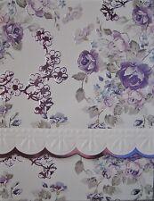 Carol Wilson Purse Pads Embossed Note Pad Purple Flowers Magnetic 90 Sheets