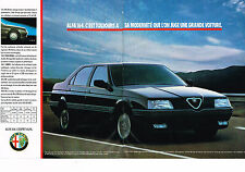 PUBLICITE ADVERTISING  1990   ALFA ROMEO    ALFA 164  ( 2 pages)
