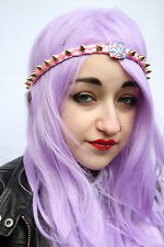 PINK TRECCIA Aztec Gold Spike Stud BORCHIE FRONTE HEAD BAND KAWAII PASTEL GOTH