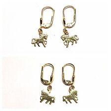 Ohrringe 333er Gold Kinderohrring  Goldohrstecker Pferd Goldohrringe