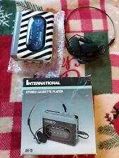 Vintage International Stereo Personal Cassette Player Ak-18 High Res new in box.