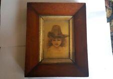 Frank Miles (1852-1891) Portrait Crystoleum in Original Mahogany Frame