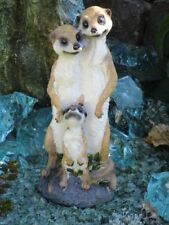 Erdmännchen Familie Figur Gartenfigur 38 cm Deko Garten Top °45240