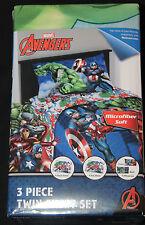 Boys Marvel Avengers Twin Sheet Set 3 pc polyester new in pkg #6674