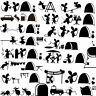 2pcs Lover Mouse Home Travel Mice Sticker Car Skate Laptop Wall Surf Decal Vinyl