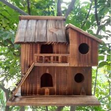Outdoor Bird House Garden Birdhouse Wooden Nest Decor Cage Decoration Porch