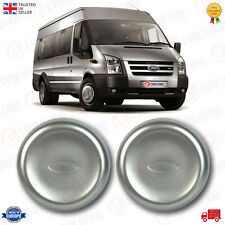 A PAIR OF FRONT WHEEL CENTRE CAP TRIMS FITS FORD TRANSIT MK6 MK7 REAR TWIN WHEEL