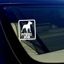 "Pitbull Mom Car Window BumperDecal Sticker I Love My Rescue Dog  4"" Inches #Rect"