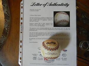 1993 All Star Game Team Signed Baseball PUCKETT, GWYNN, BONDS,SANBURG, BROCK PSA