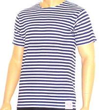 Ruso Azul Marino Manga Corta TELNYASHKA Marinero Camiseta - y blanco 86.4-117cm