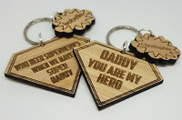 PERSONALISED CHRISTMAS FATHER'S DAY GIFT FOR DADDY DAD GRANDAD KEYRING SUPERHERO