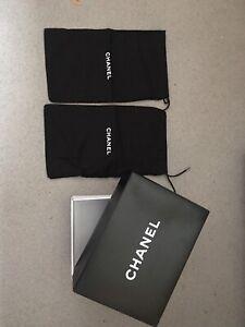 Pair CHANEL Shoes Purses Dust Bags 36 cm X 21 cm NEW set of 2 plus box