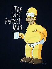 The Last Perfect Man Homer Simpson Husband Boyfriend Caveman T Shirt L
