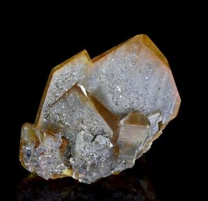 Outstanding Yellow Anglesite Crystal Cluster from Toussit, Morocco!