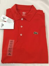 Lacoste SPORT Men's Polo Shirt New With Tags Etna Red Orange Size EU 4 US S