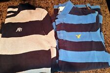 LOT OF 4 XL L Men's casual Polo American Eagle AE shirts sweater plus bonus tank