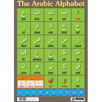 Sumbox Learn Arabic Alphabet & Numbers Educational Language Poster Madrassah NEW