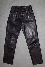 PANTALON 5 poches CUIR semi-épais THORE CANYON Femme, Taille 38 --- (PCF_017)