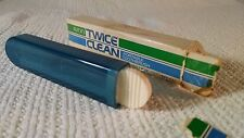 1970s Avon Twice Clean blue portable toothbrush in original box ~ travel toothbr