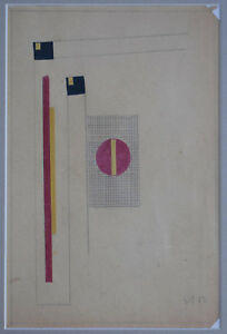 Listed German Artist Erich Buchholz Original Watercolor & Collages Painting