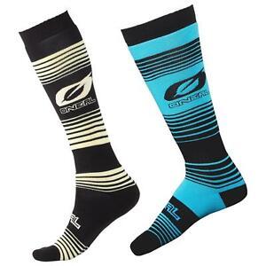 O'Neal Pro MX Stripes Knie Socken Strümpfe Motocross Enduro Offroad Downhill DH