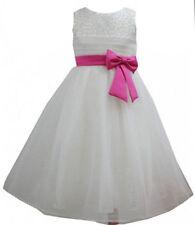 Vêtements blanc manches courtes pour fille de 4 à 5 ans