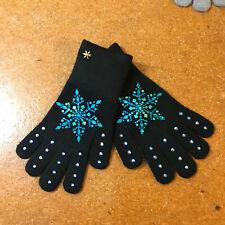 Frozen Couture gloves, Figure skating gloves, crystal fingers gloves