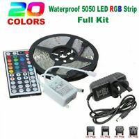 1M 5M RGB 5050 LED Strip Lights 300LEDs 12V Colour Changing Tabe Kitchen Light