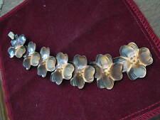 """Vintage 1950s Francisco REBAJES (1905-1990) Copper 7 DOGWOOD BRACELET 6 1/2"""""""