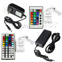 24/44 key IR Remote Controller + 2A/5A Power Supply for 3528 5050 RGB LED Strip