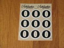 Autographics of California No Number 0 Decal Sticker Sheet RC 10 RC10 NASCAR 125