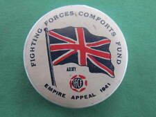 1941 FFCF Fighting Forces Comforts Fund WW2 Pinback Button Badge