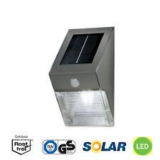 4-LEDs | LED-Solar-Wandleuchte | IP43 | Bewegungsmelder | Akku-Batterie | Kalt-W