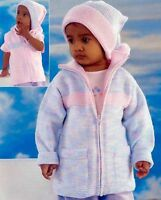 (770) Knitting Pattern for Baby Child's Jacket, Gillet and Hat, 16-26''