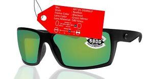 Costa Del Mar Reefton Blackout Frame Green Mirror 580 Glass Polarized Lens