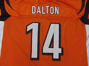 Cincinnati Bengals Andy Dalton #14 NFL JERSEY orange Reebok el Salvador Mens XL