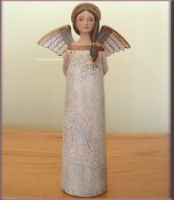 ANGEL HANDS BEHIND HER BACK FIGURINE BY TERESA KOGUT 8 INCHES FREE U. S. SHIP
