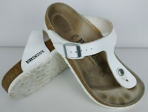 Birkenstock Womens Gizeh Regular Fit White Sandals Size 37 240 mm